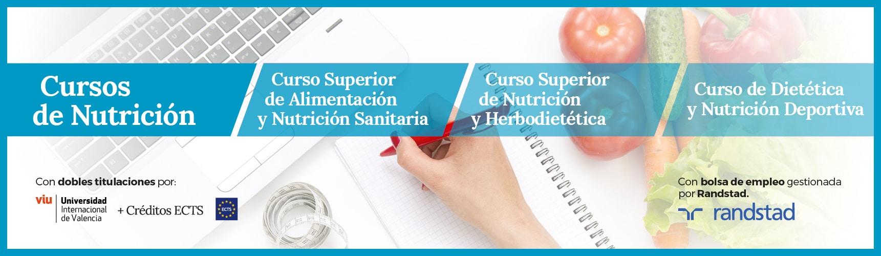 Cursos de nutrición en Deusto Salud