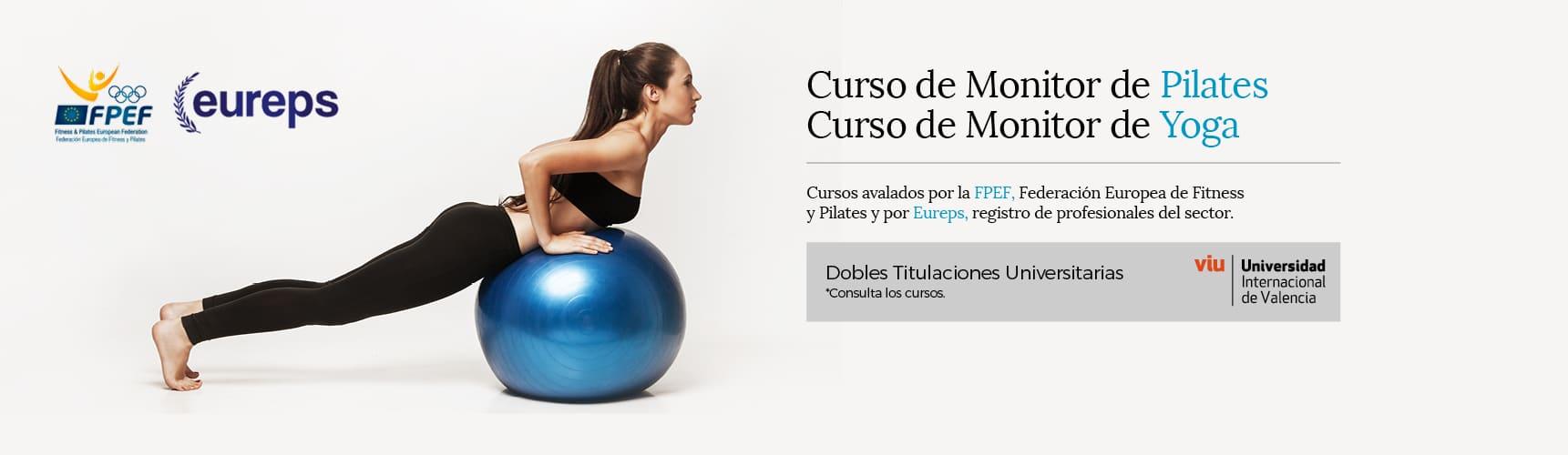Cursos de Monitor de Yoga y Pilates