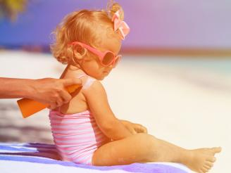 Protectores solares especiales para mi bebé