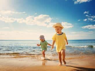 Protección bebes playa