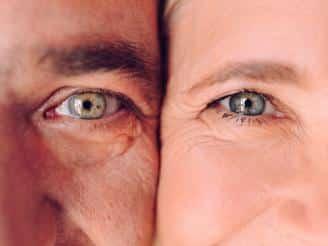 Envejecer hombre y mujer